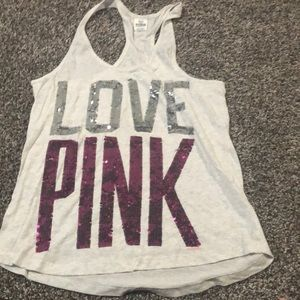 Victoria's Secret Pink sequin tank large